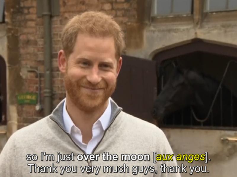 Royal baby: la joie du Prince Harry