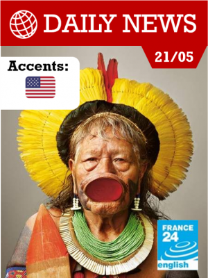 Rencontre avec le chef indigène Raoni, défenseur de l'Amazonie